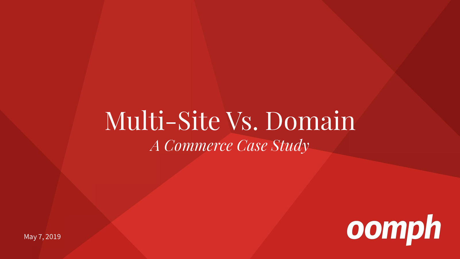 Multi-Site Vs Domain: A Commerce Case Study