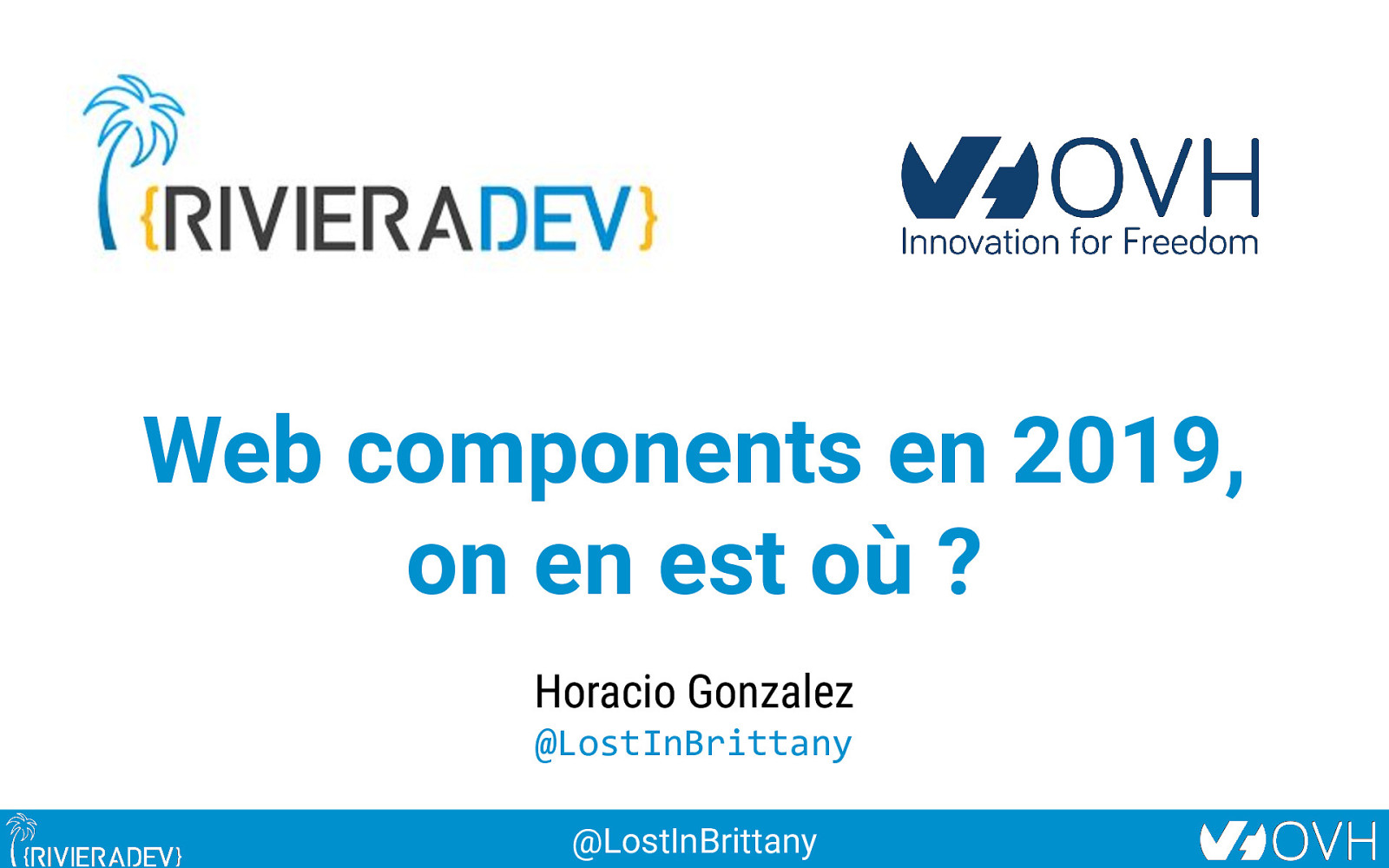 Web components en 2019, on en est où?
