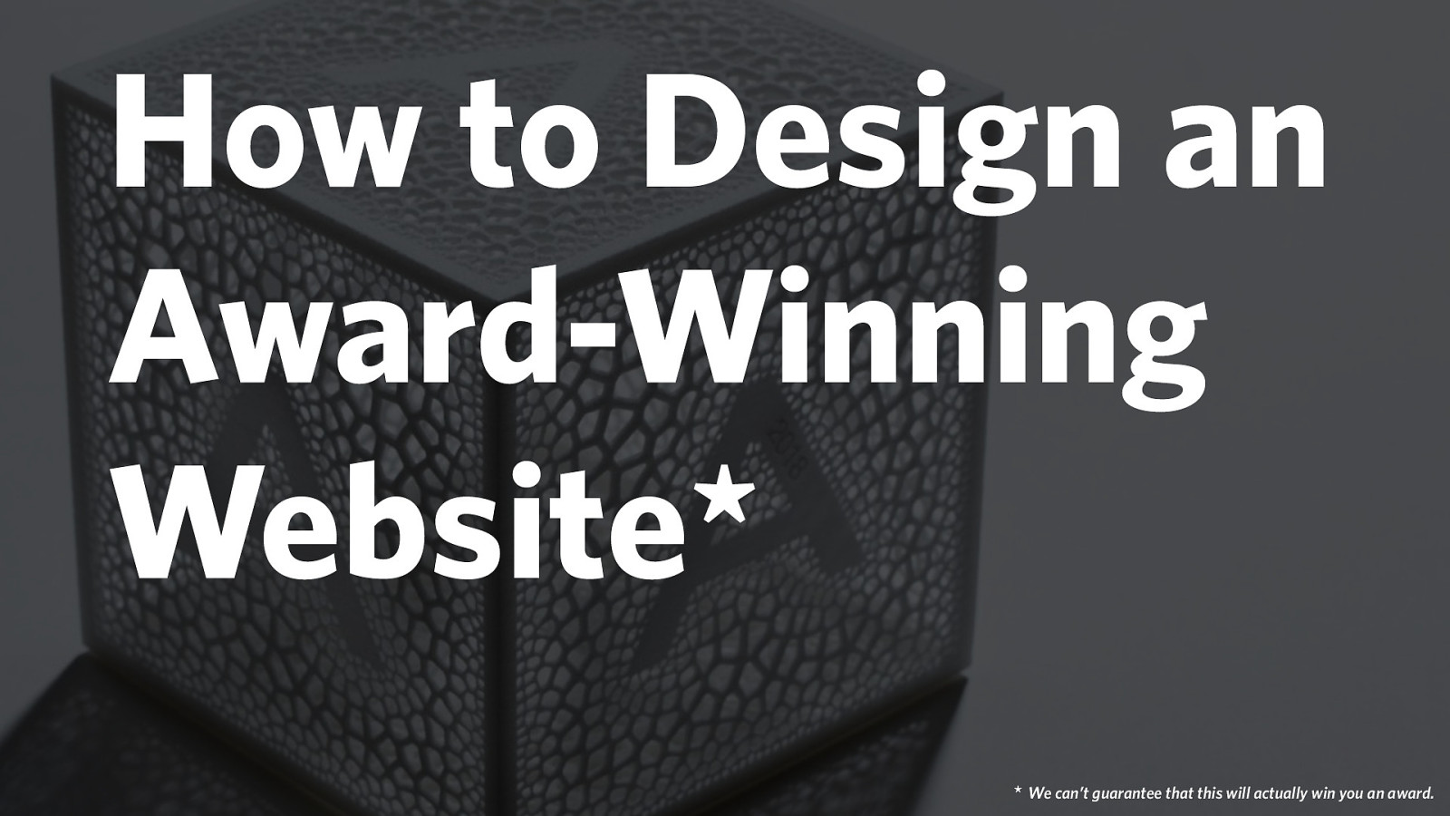 How to design an award-winning website