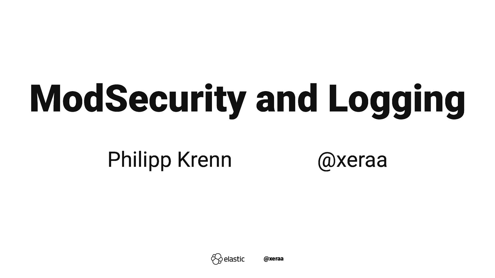 ModSecurity and Logging
