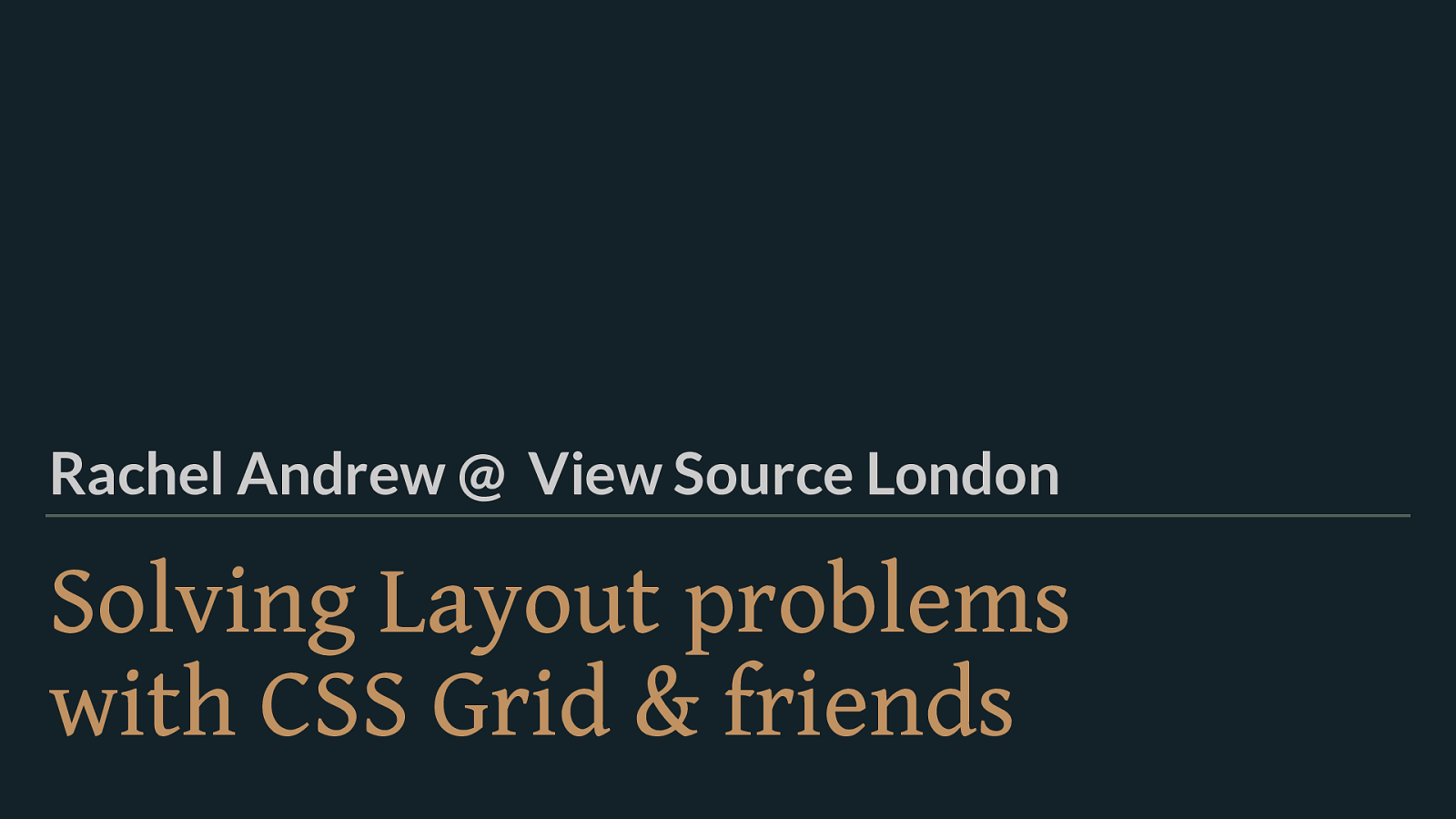 Solving Layout Problems with CSS Grid and Friends