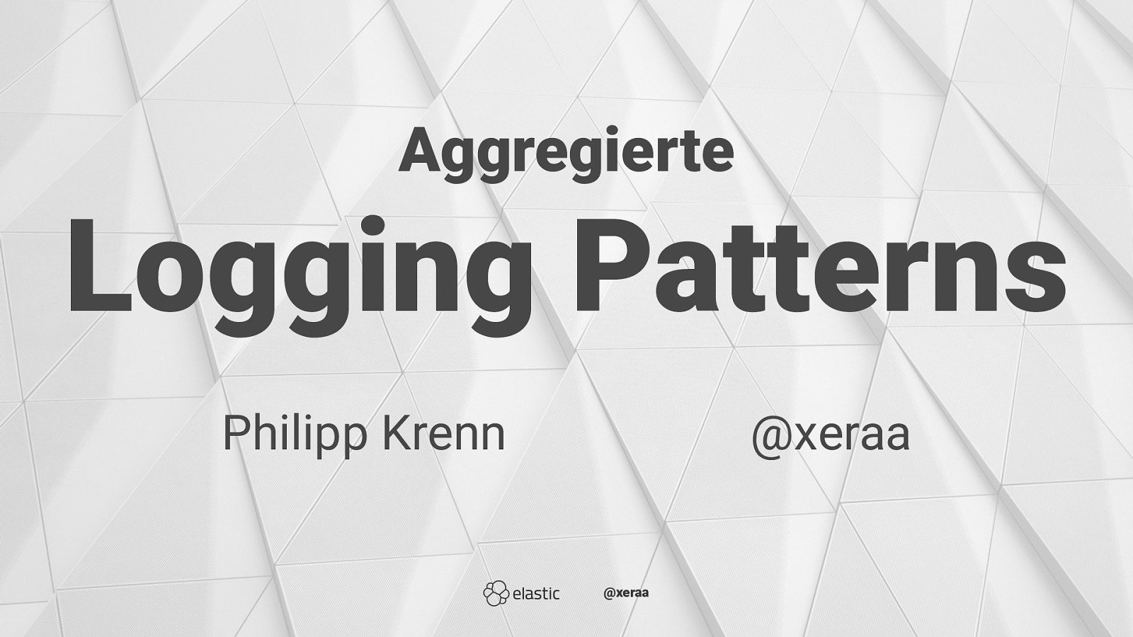 Aggregierte Logging Patterns