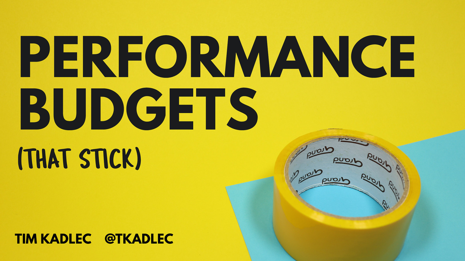 Performance Budgets that Stick