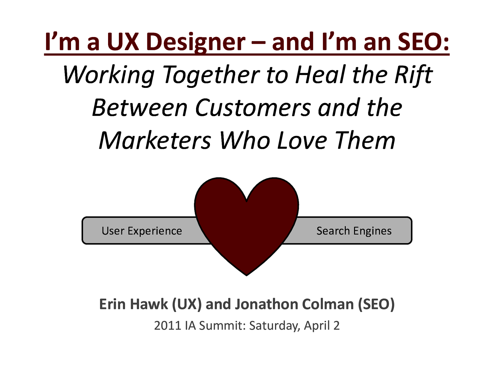 UX & SEO: Working Together to Heal the Rift Between Customers and the Marketers Who Love Them