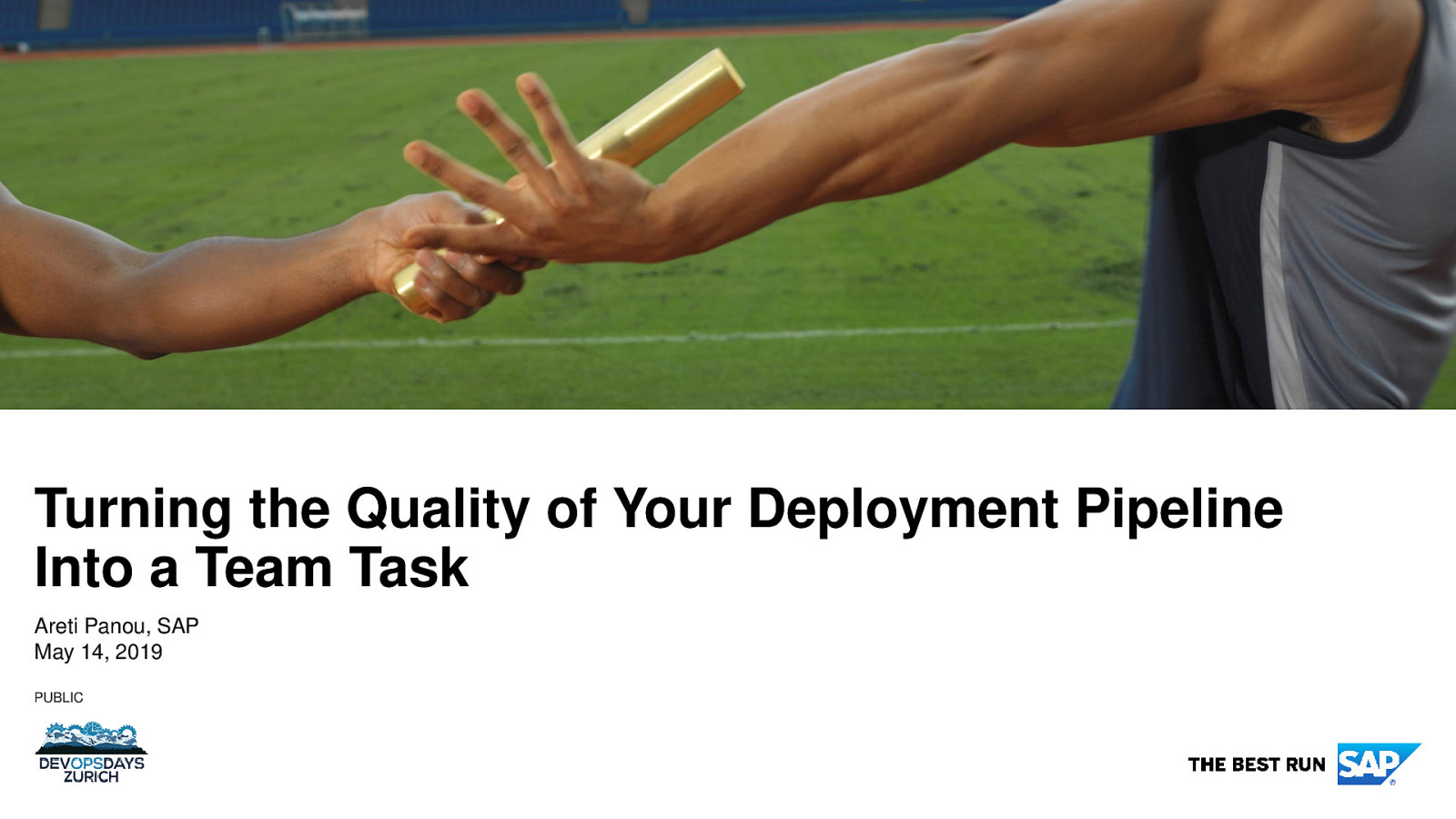 A Team Into turning the quality of your deployment pipeline into a team