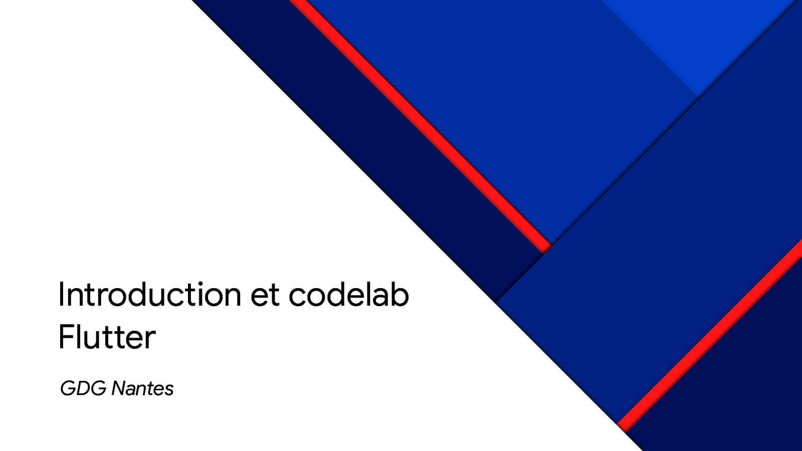 Introduction et codelab Flutter