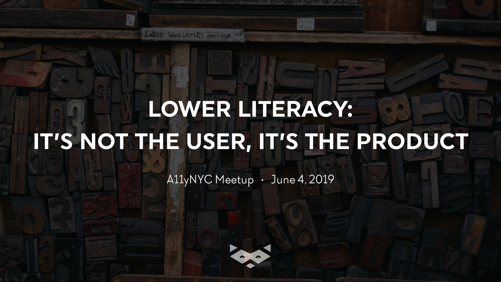 Lower literacy: it's not the user, it's the product!