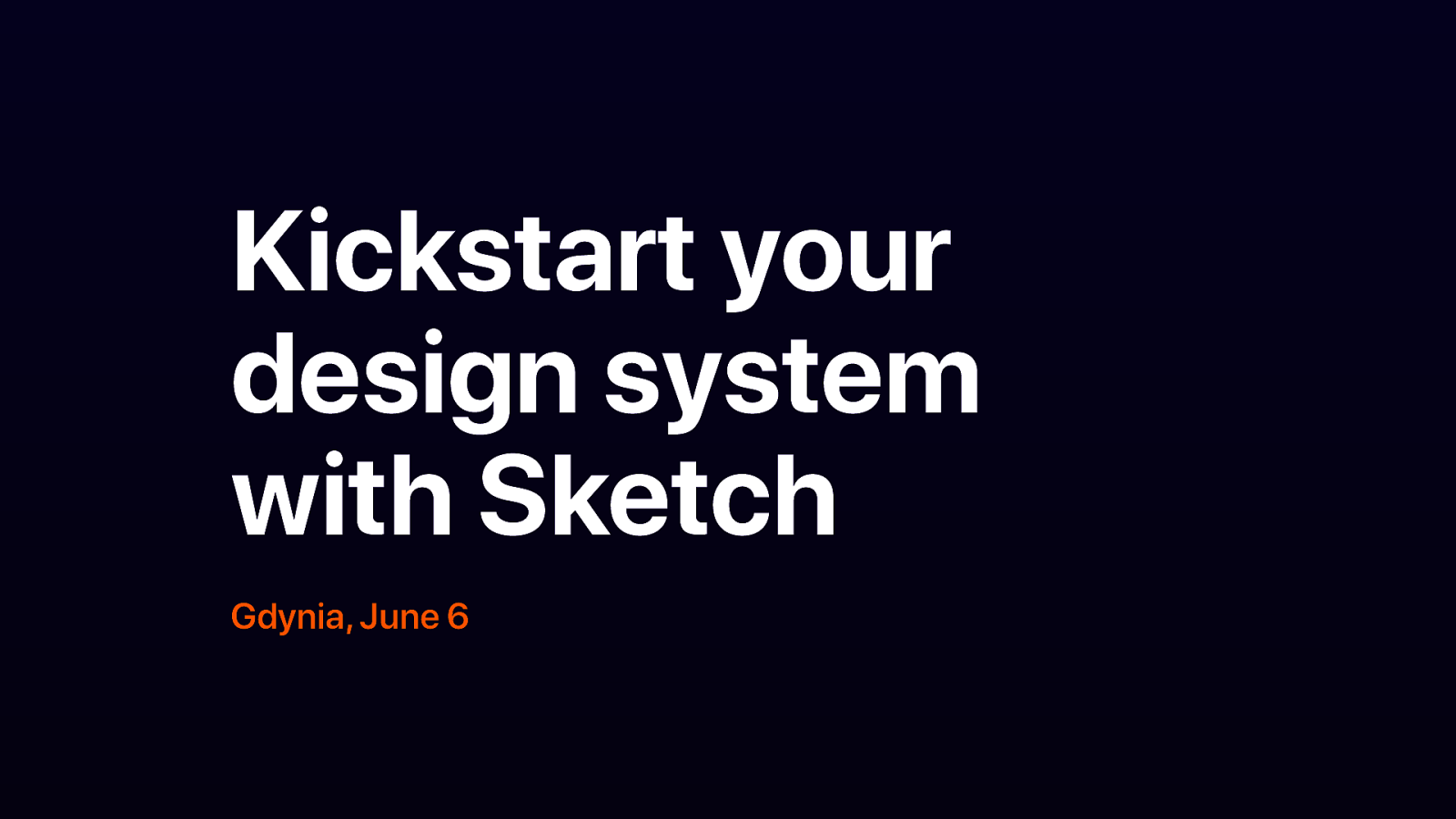 Kickstart your design system with Sketch