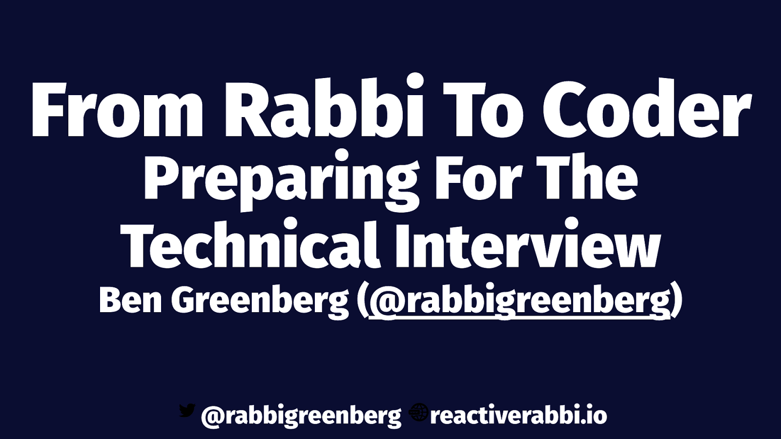 How to Prepare for the Technical Interview