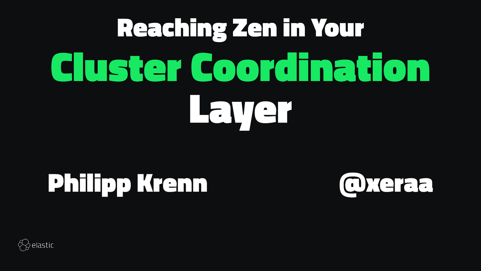 Reaching Zen in Your Cluster Coordination Layer