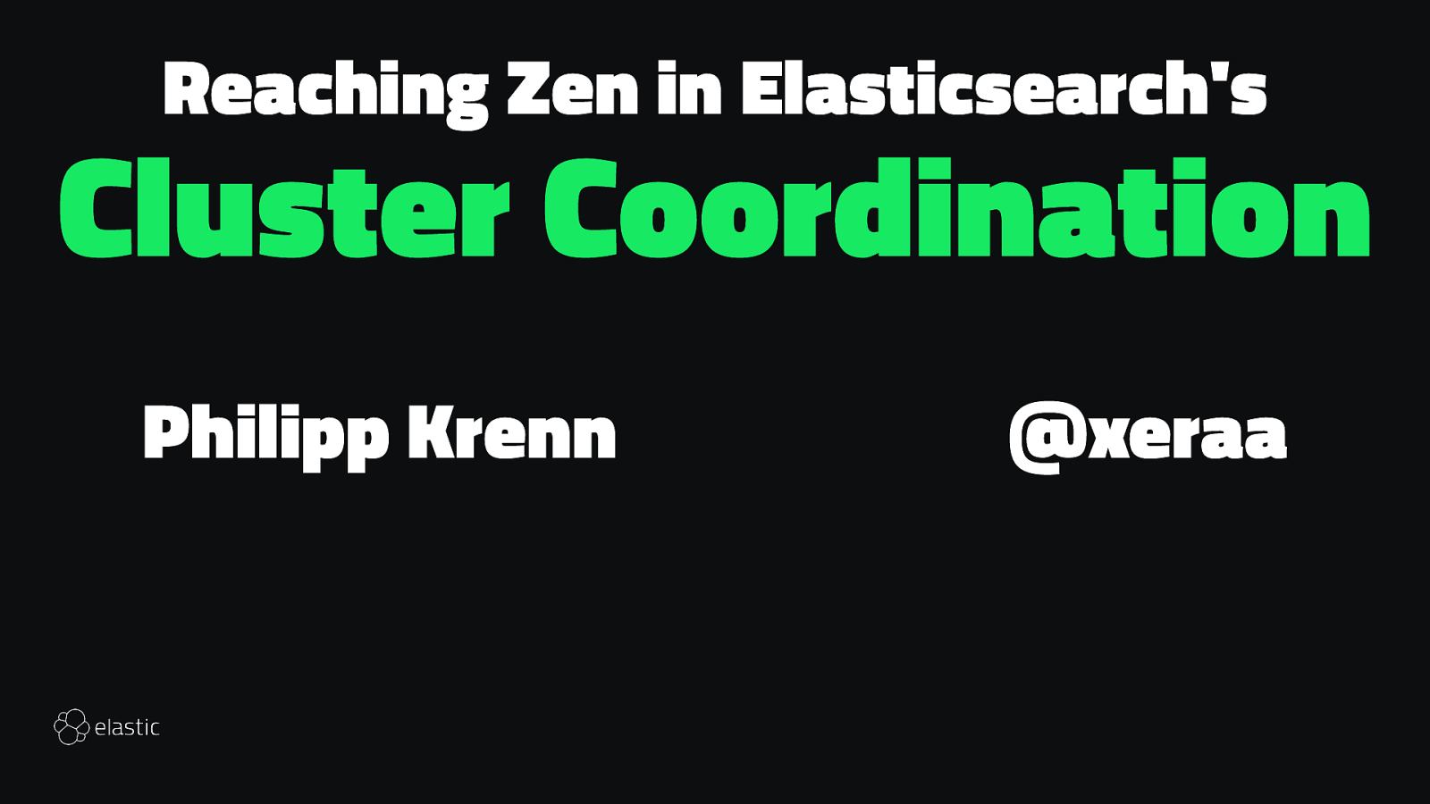 Reaching Zen in Elasticsearch's Cluster Coordination