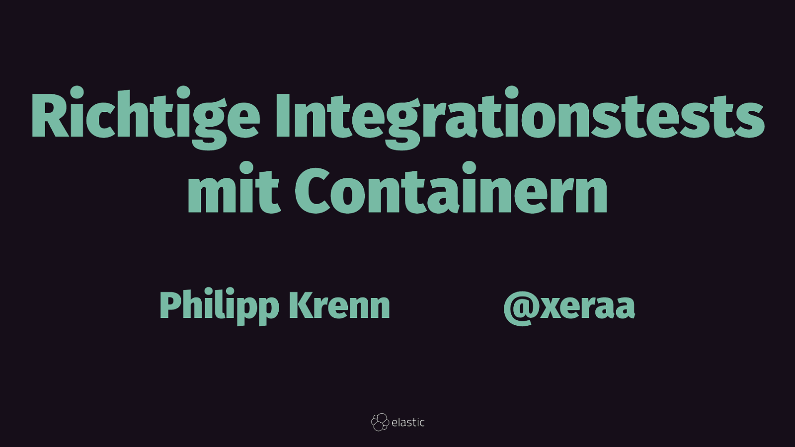 Richtige Integrationstests mit Containern
