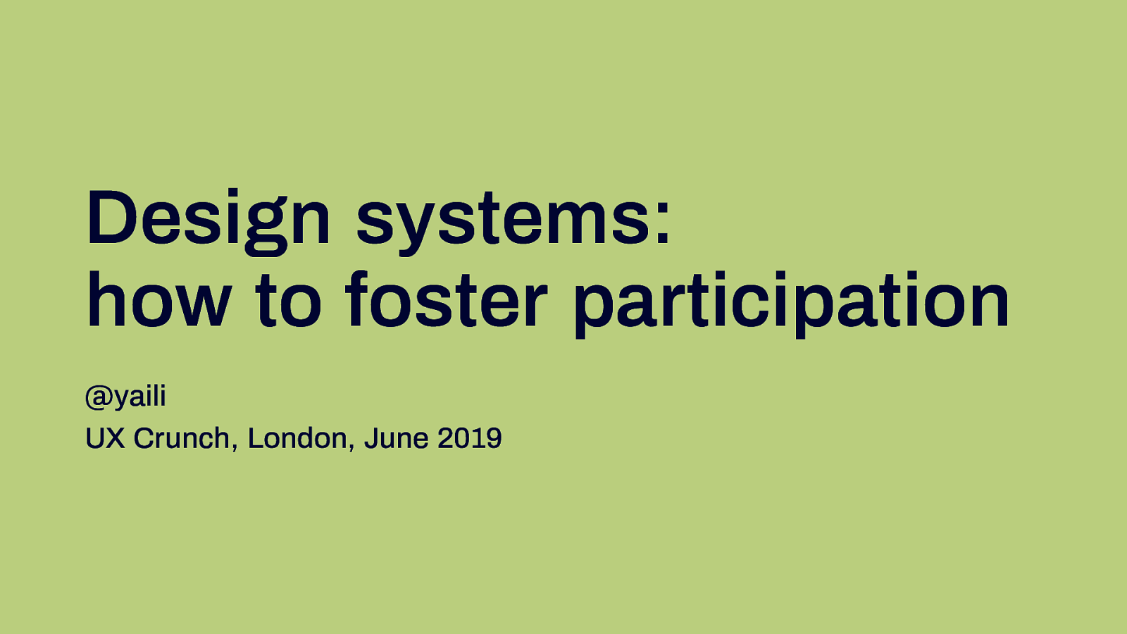 Design system: how to foster participation