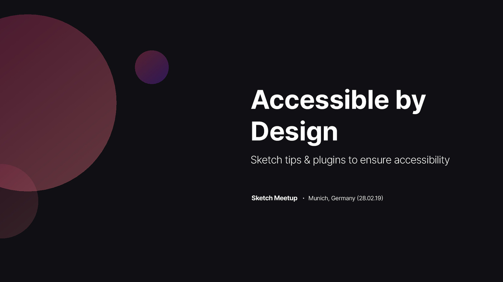 Accessible by Design