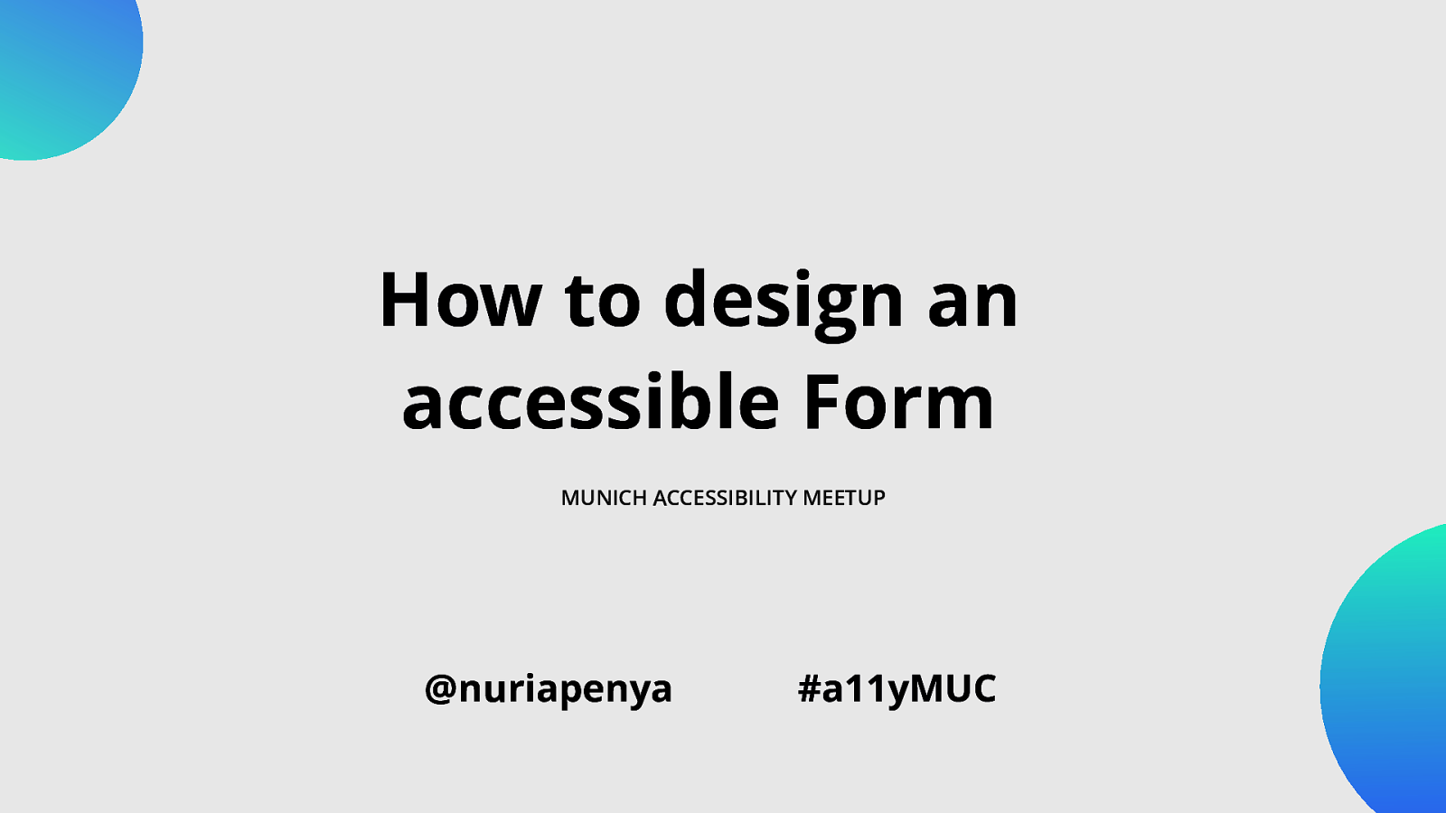 How to design an accessible form