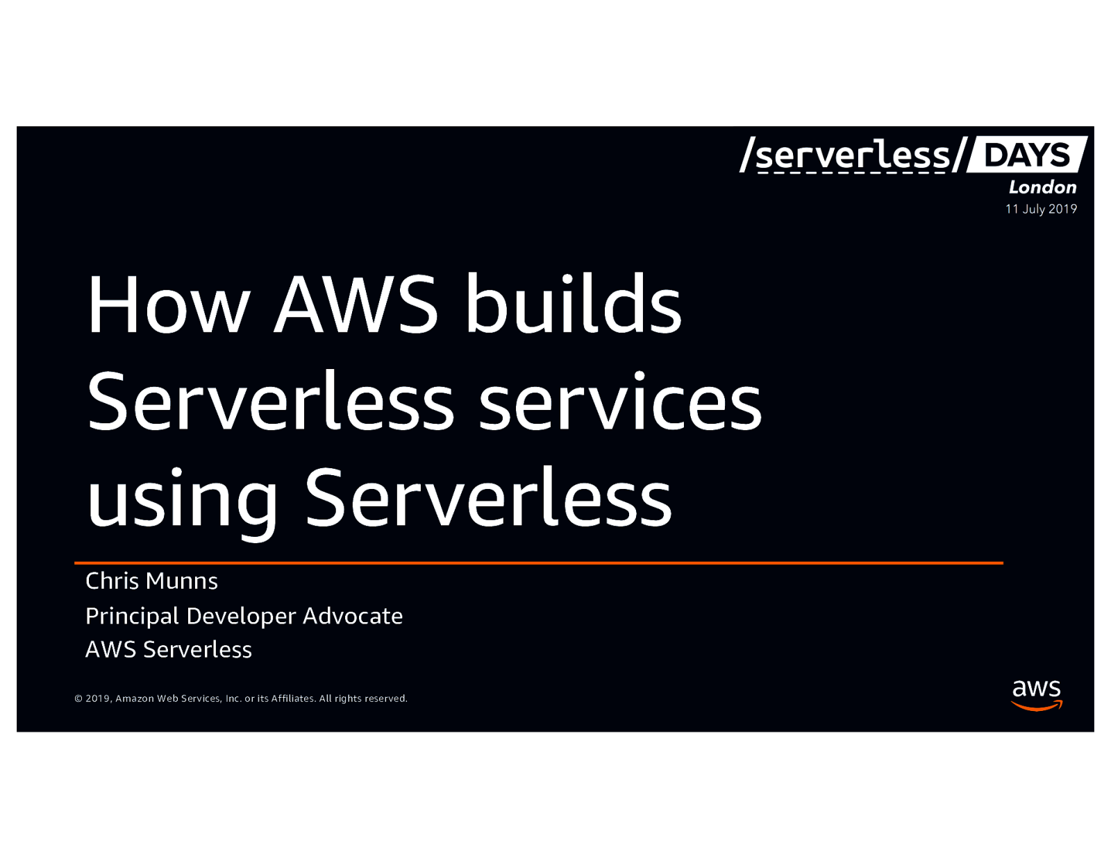 How AWS Builds Serverless Services Using Serverless - Introducing Amazon EventBridge