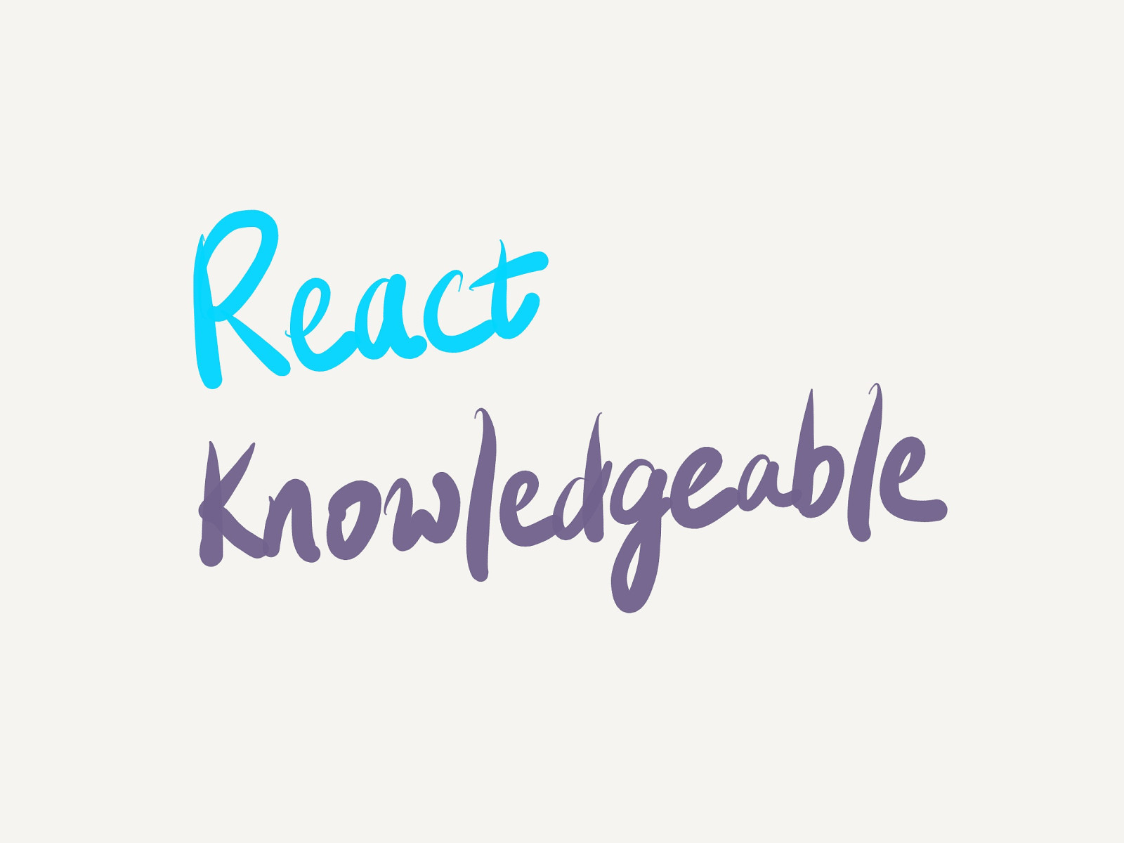 Introducing React Knowledgeable