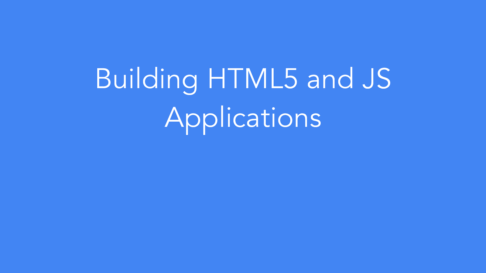 HTML5 Applications