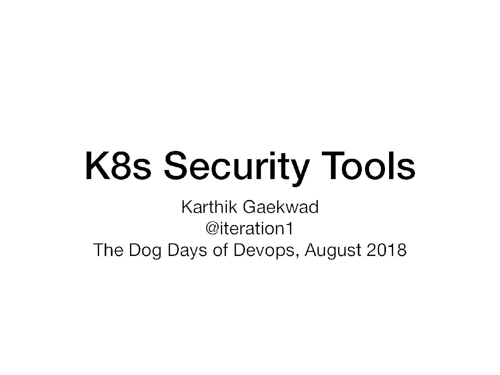 Kubernetes security and you