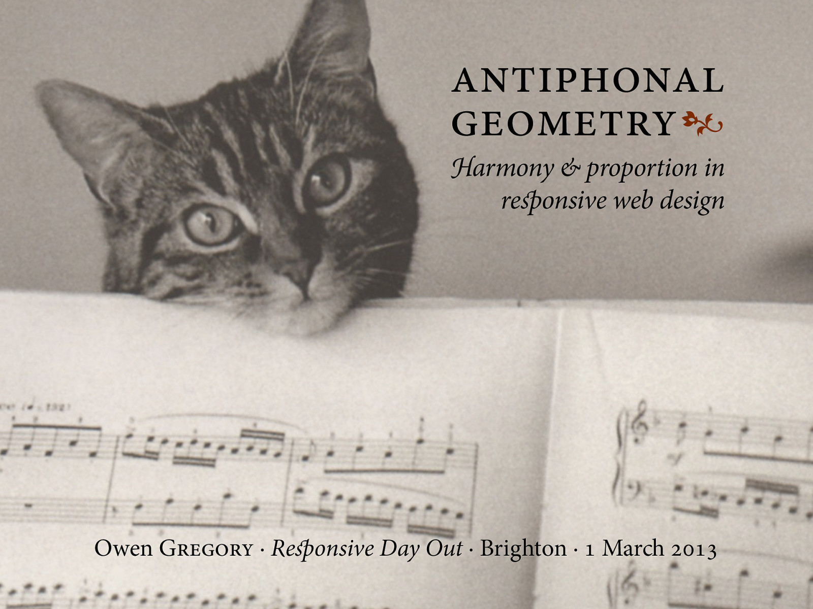 Antiphonal Geometry
