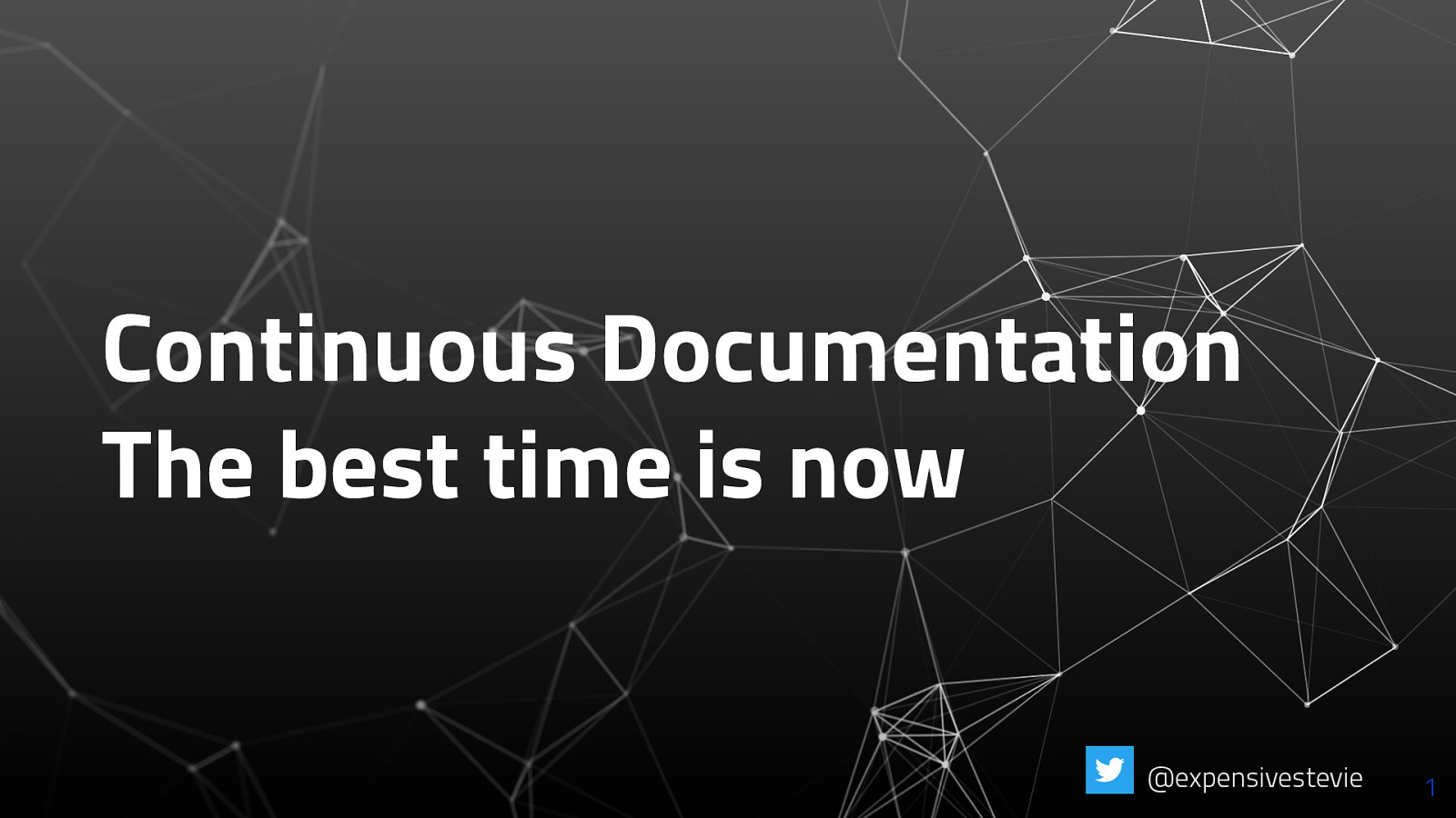 Continuous Documentation - The best time is now