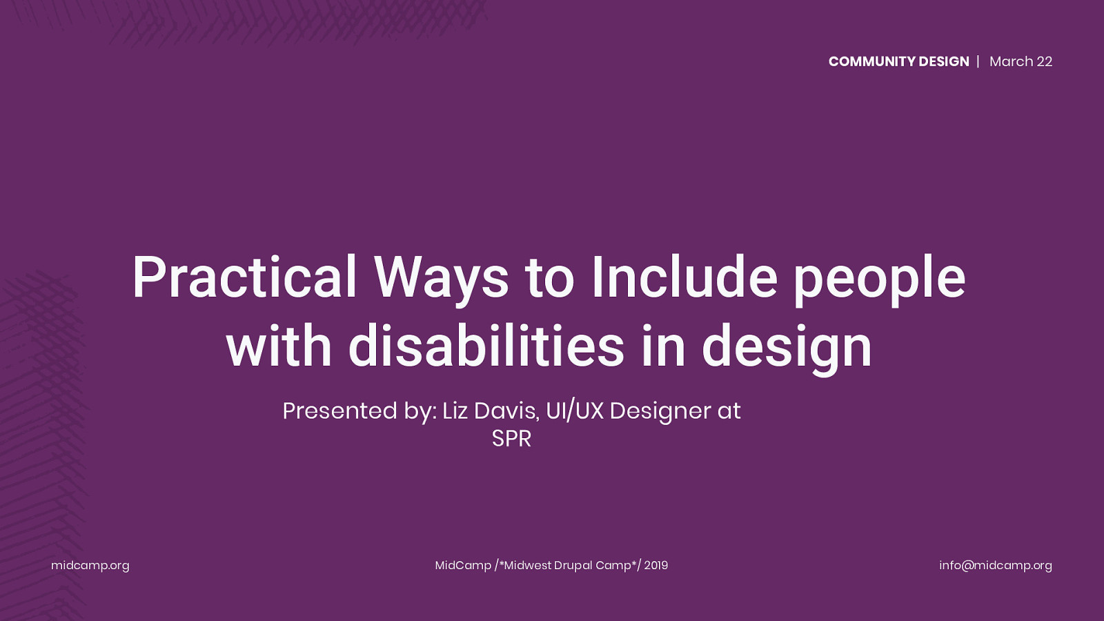 Practical Ways to Include people with disabilities in design