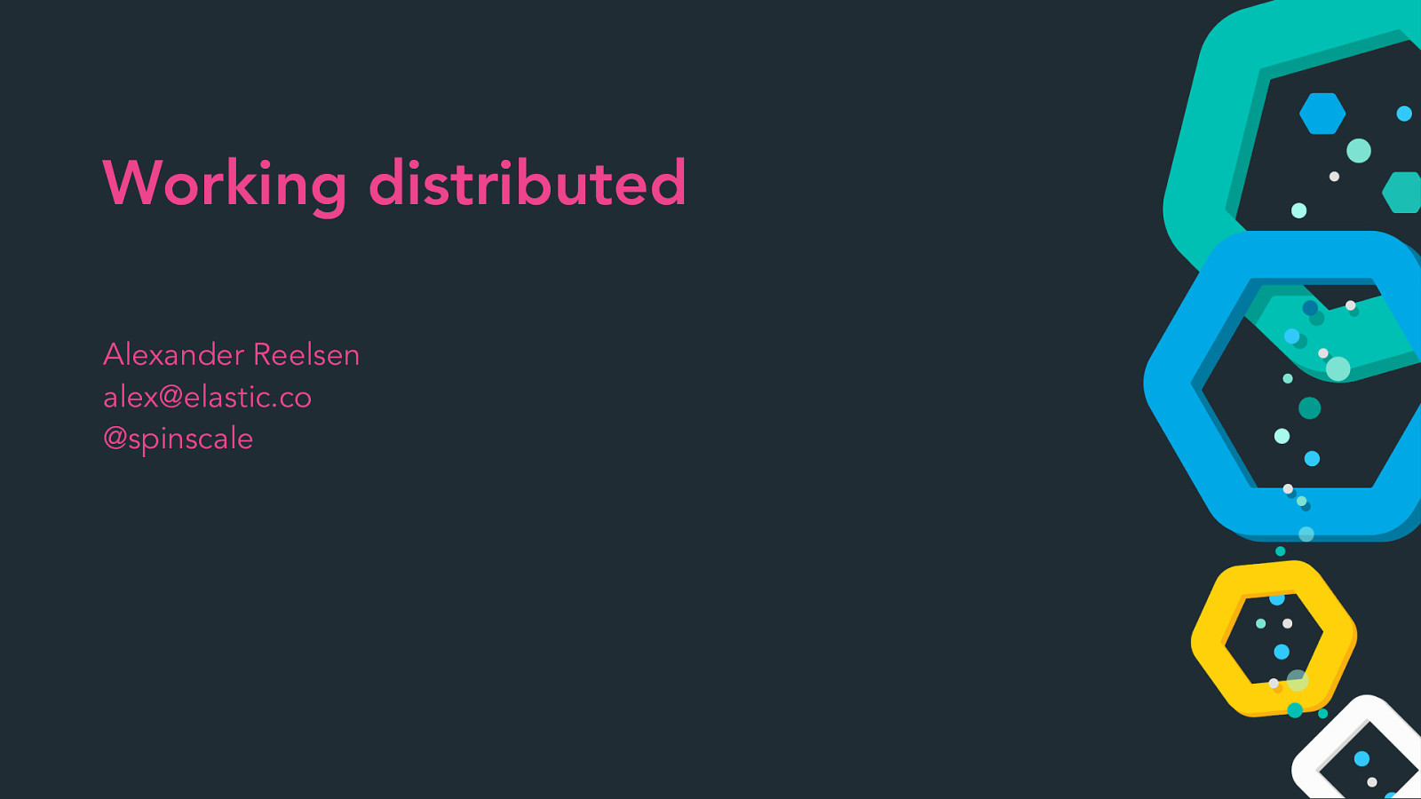 Working distributed