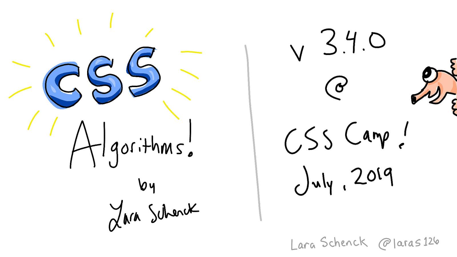 Writing CSS Algorithms (v3.4.0)