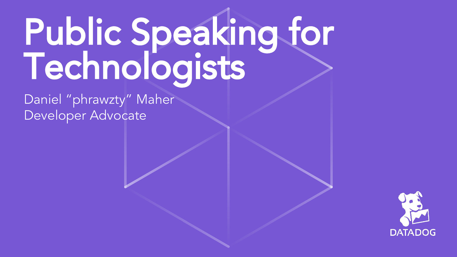 Public Speaking for Technologists