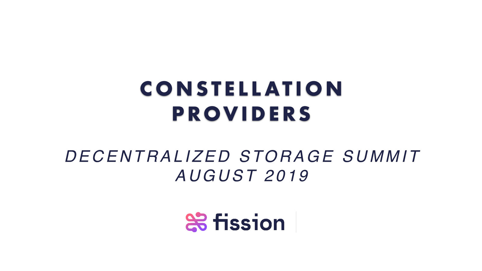 Constellation Providers