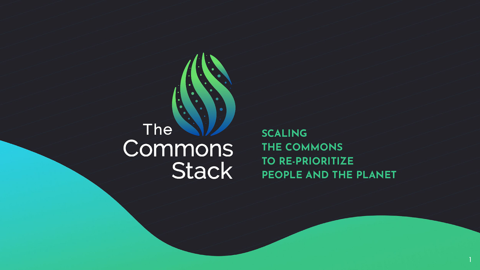 The Commons Stack: : Scaling the Commons to re-prioritize  People and the Planet