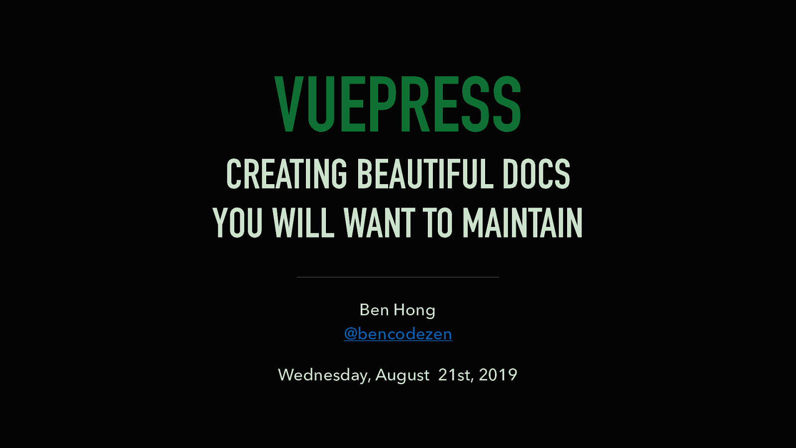VuePress: Creating Beautiful Docs You Will Want to Maintain