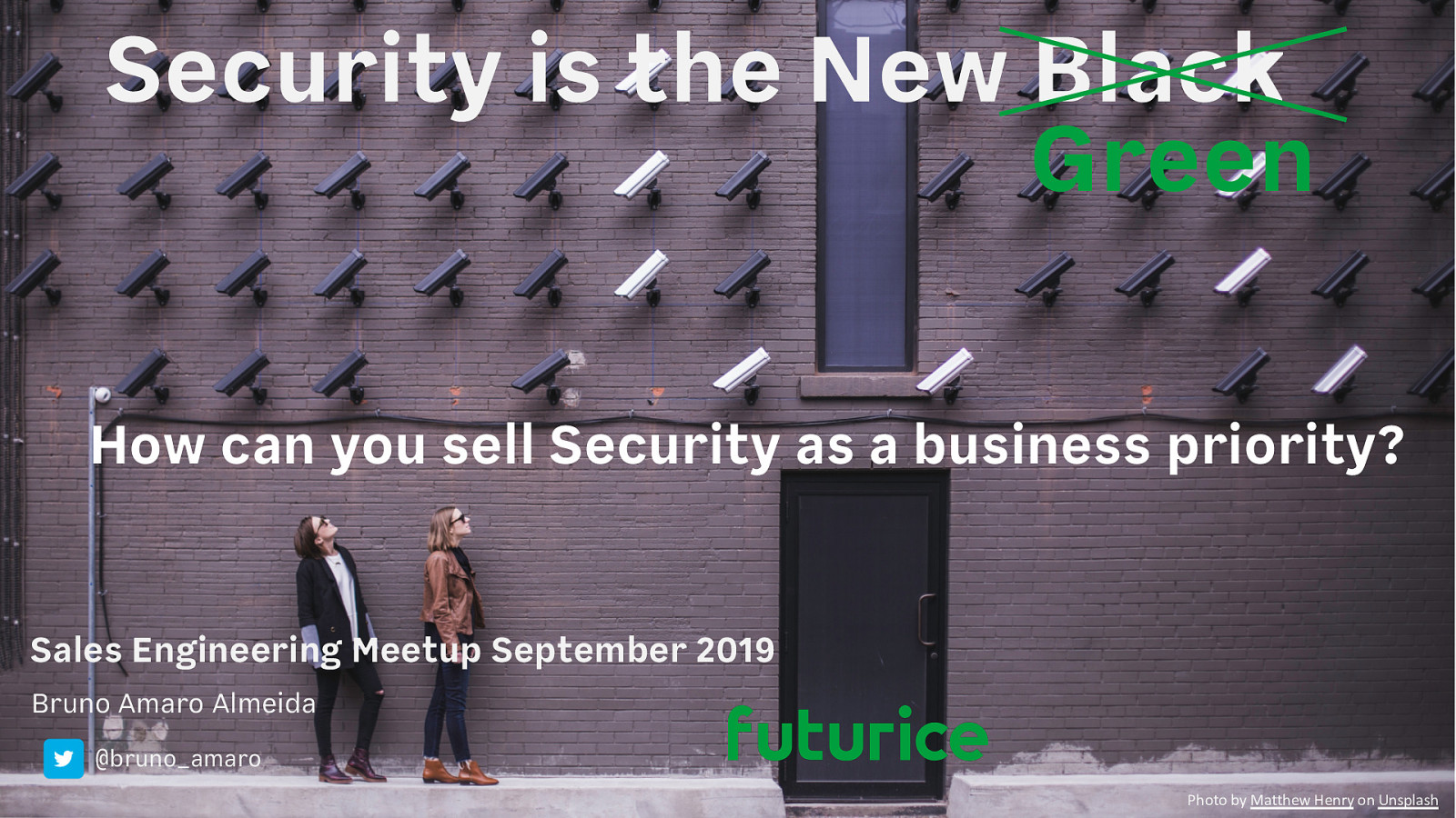 How can you sell Security as a business priority?