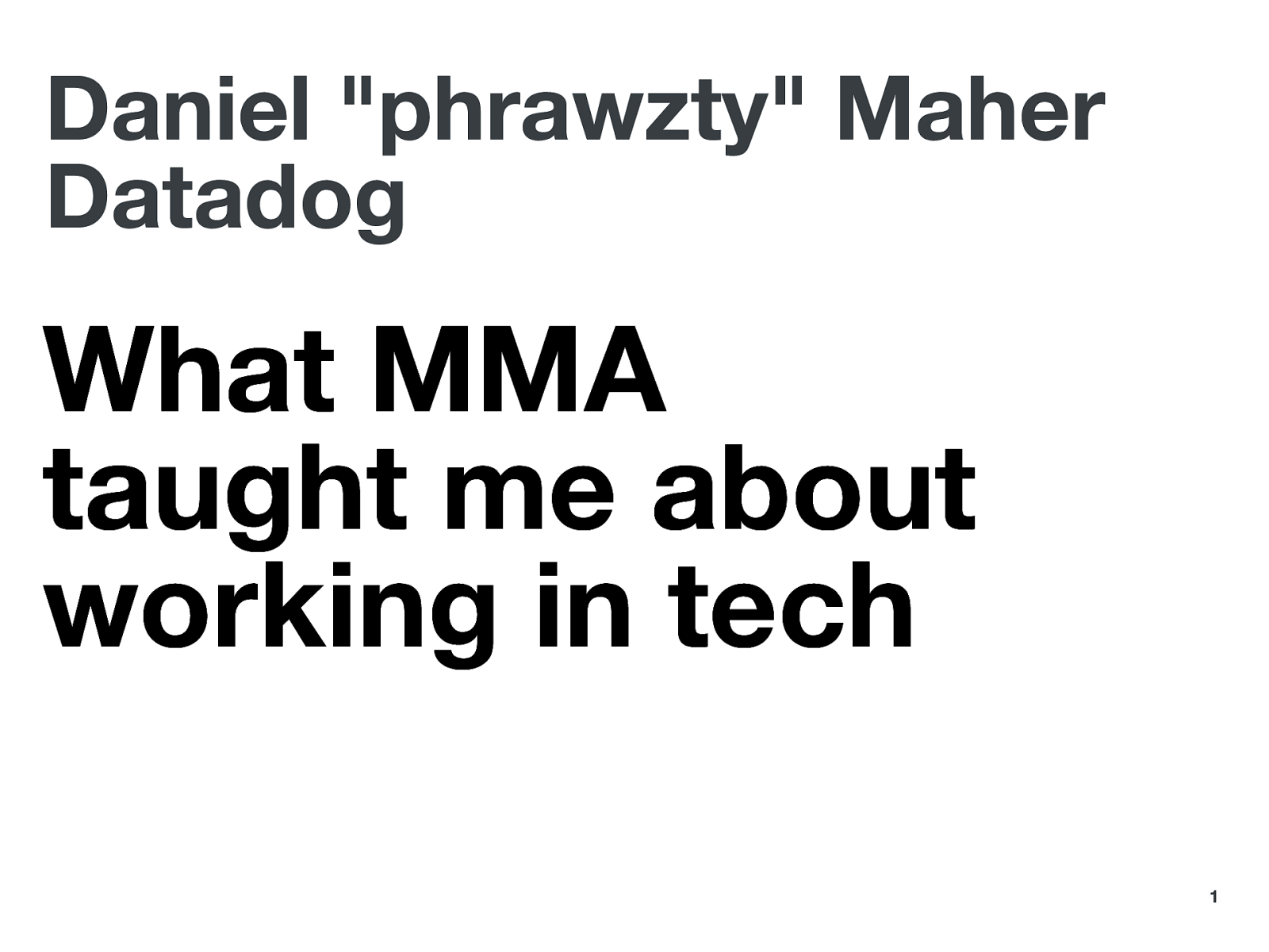 What MMA taught me about working in tech