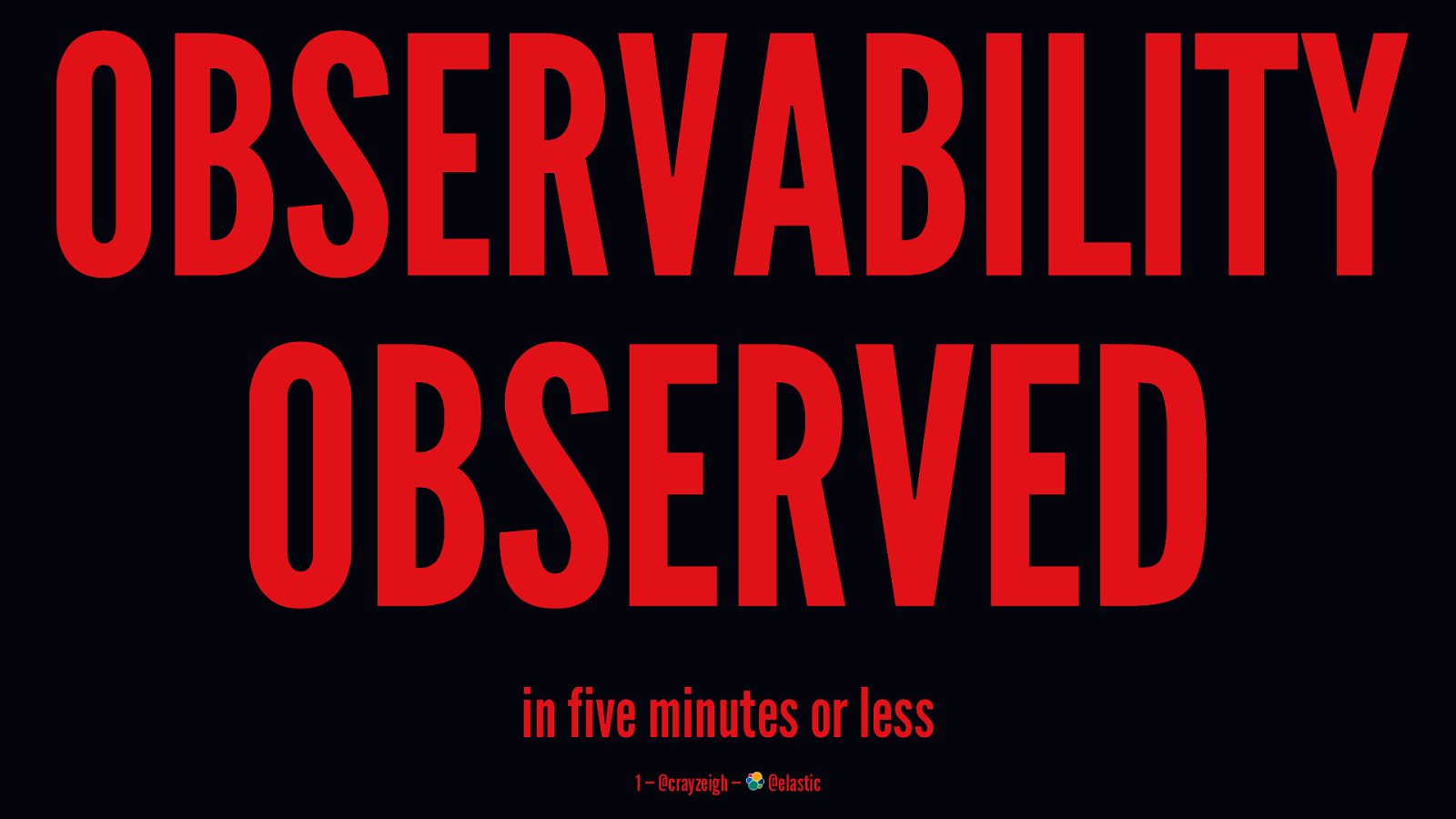 Observability Observed