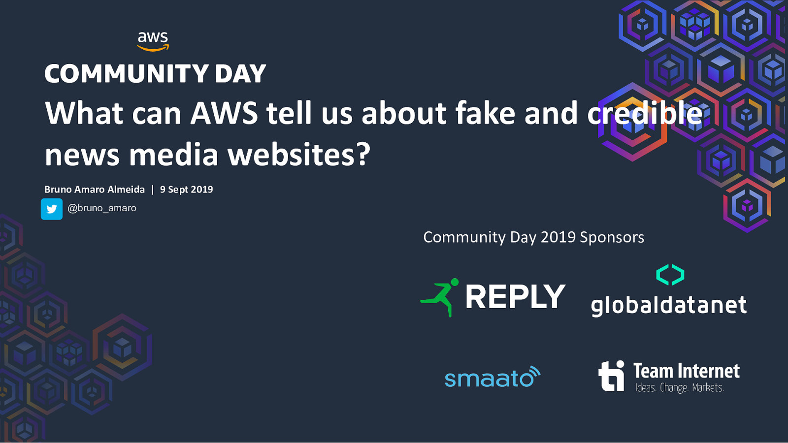 What can AWS tell us about fake and credible news media websites?