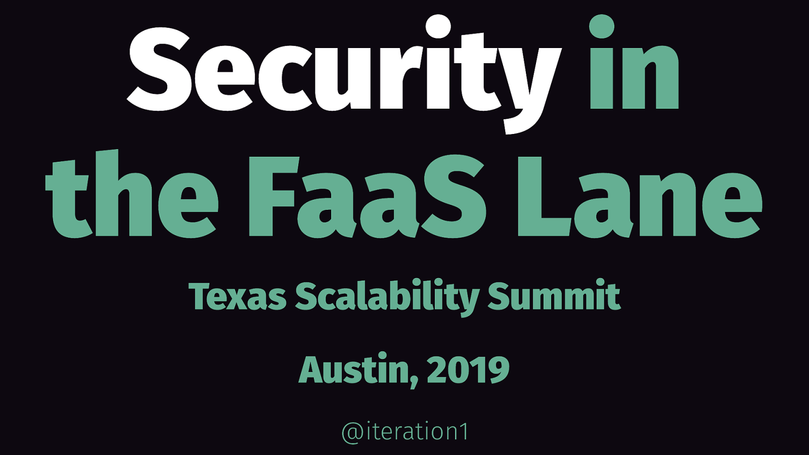 Security in the FaaS lane