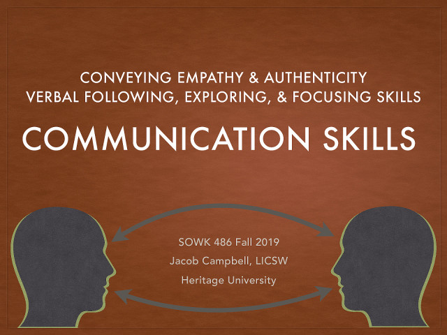 Week 05 - Communication Skills