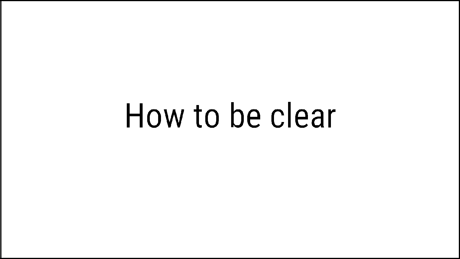 Workshop — How to be clear: the elements of content design