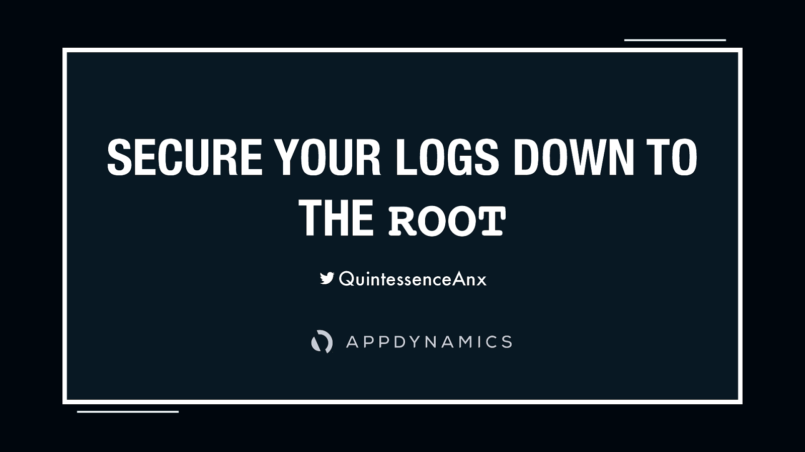 Secure Your Logs to the Root