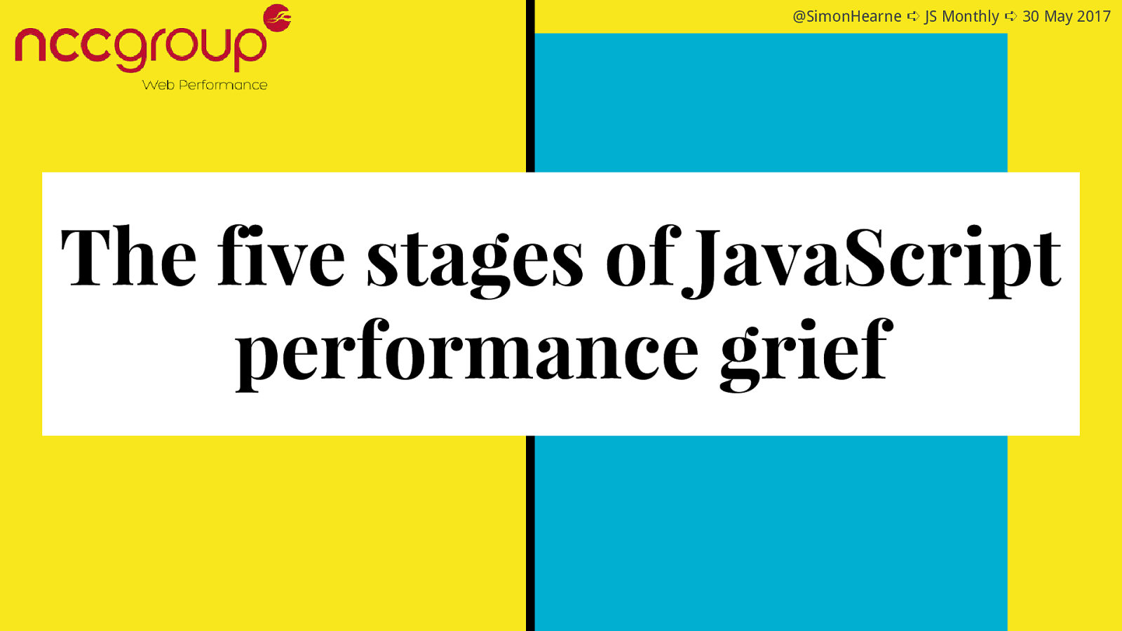 The five stages of JavaScript performance grief