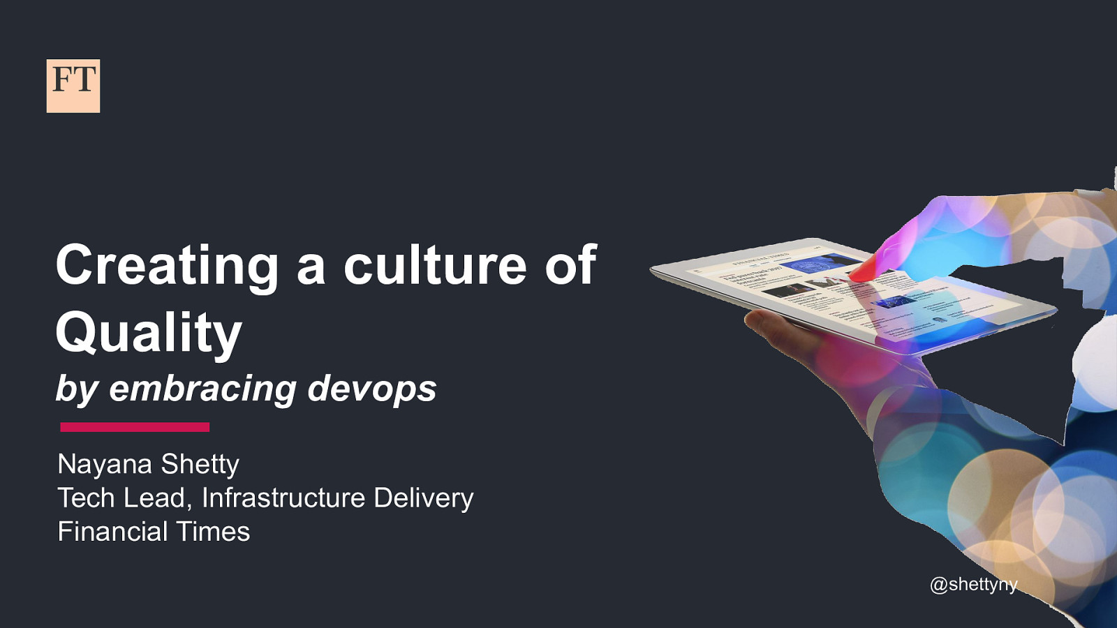 Embracing DevOps practices to create a culture of quality