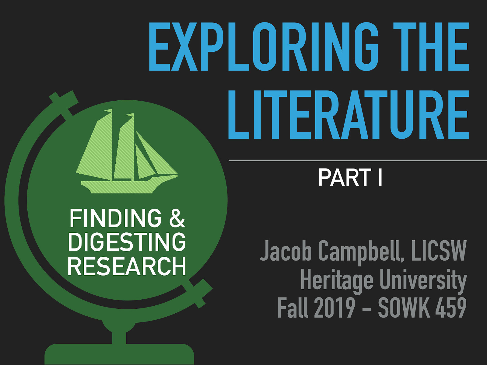 Week 06 - Exploring the Literature Part I: Finding & Digesting Research