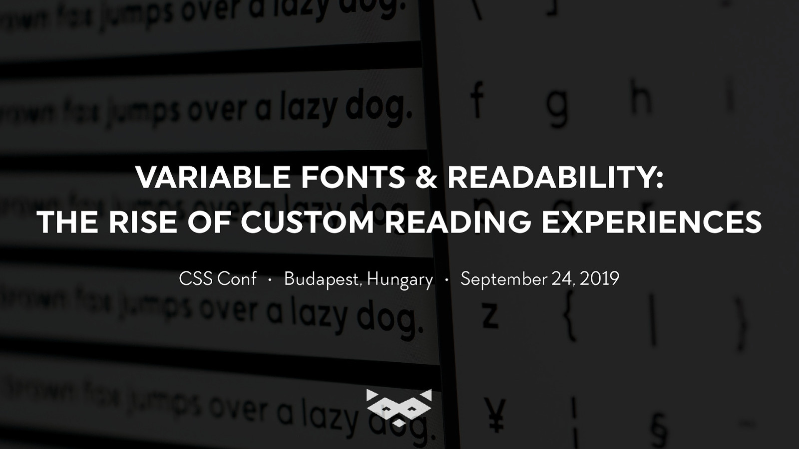 Variable fonts & readability: the rising of custom reading experiences