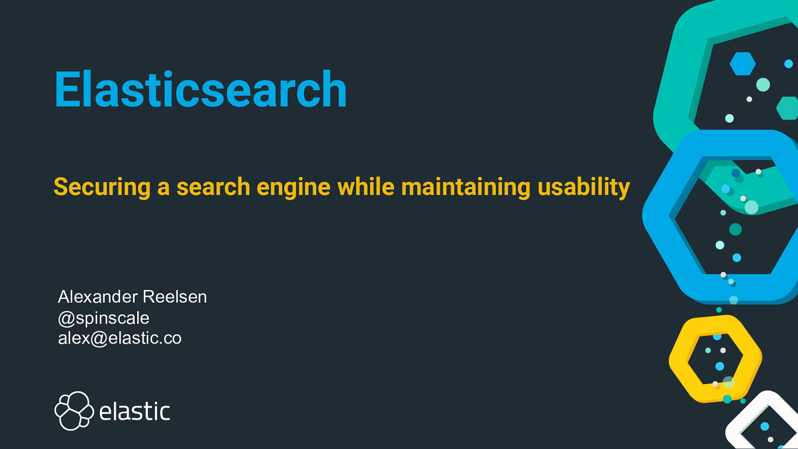 Elasticsearch - Securing software while maintaining usability