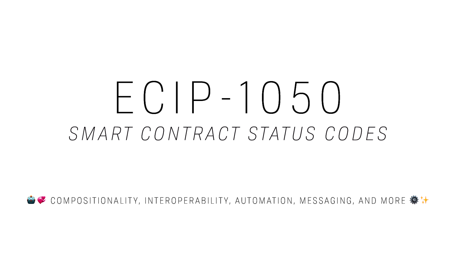 ECIP 1050: Smart Contract Status Codes