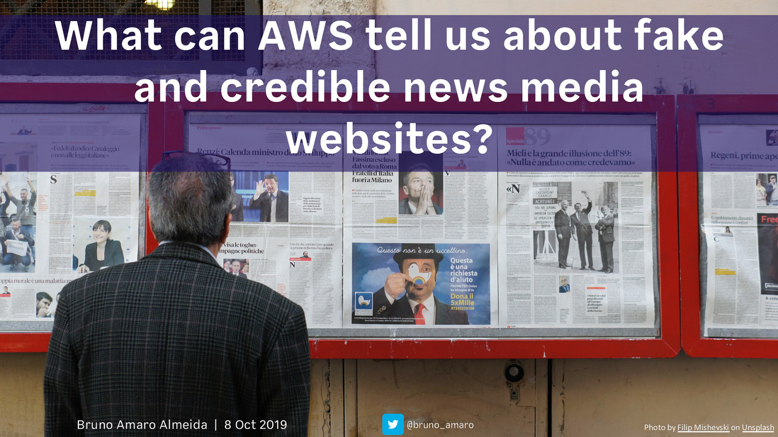What can AWS tell us about Fake and Credible News?