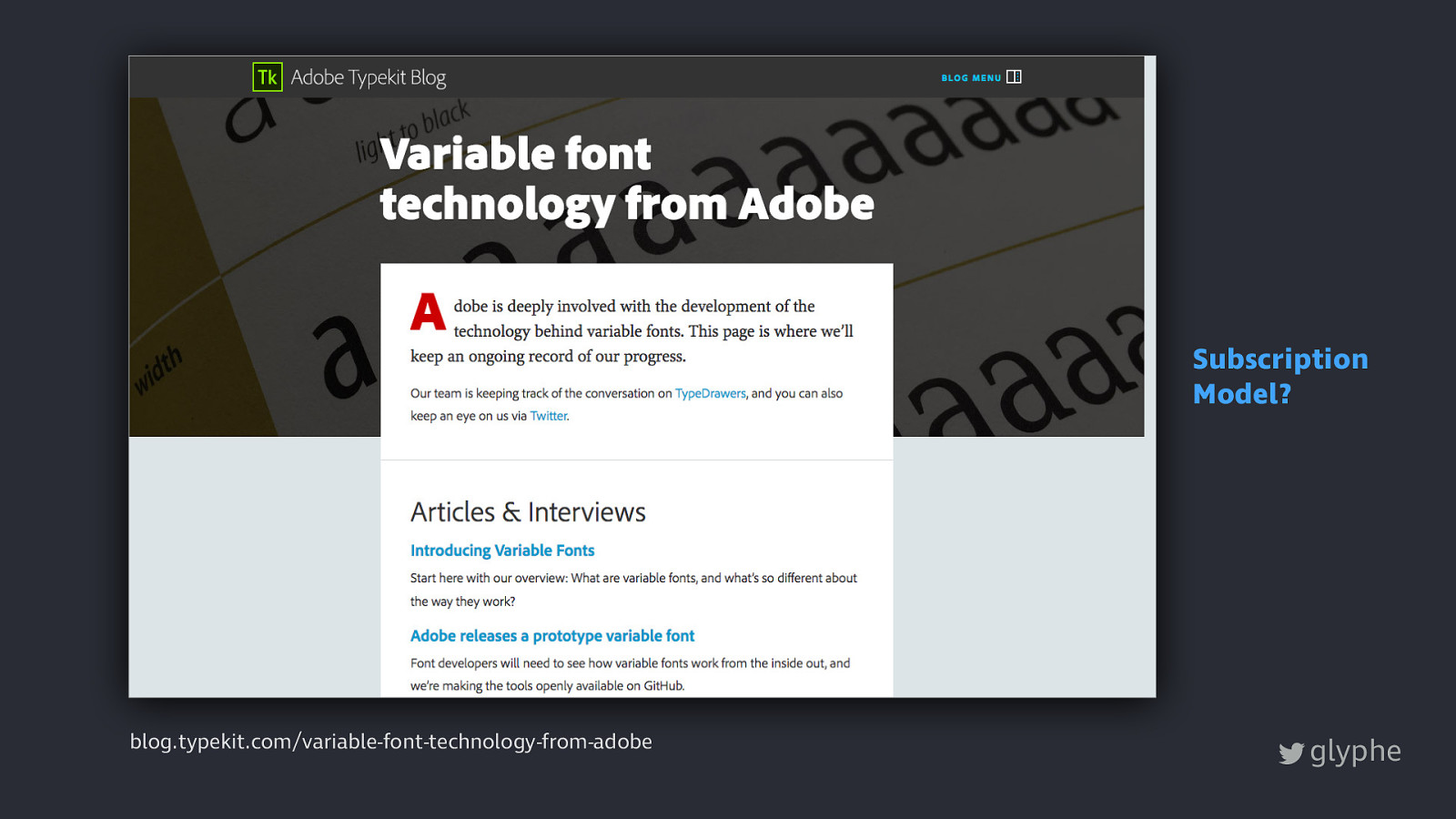 Conquer Variable Web Typography