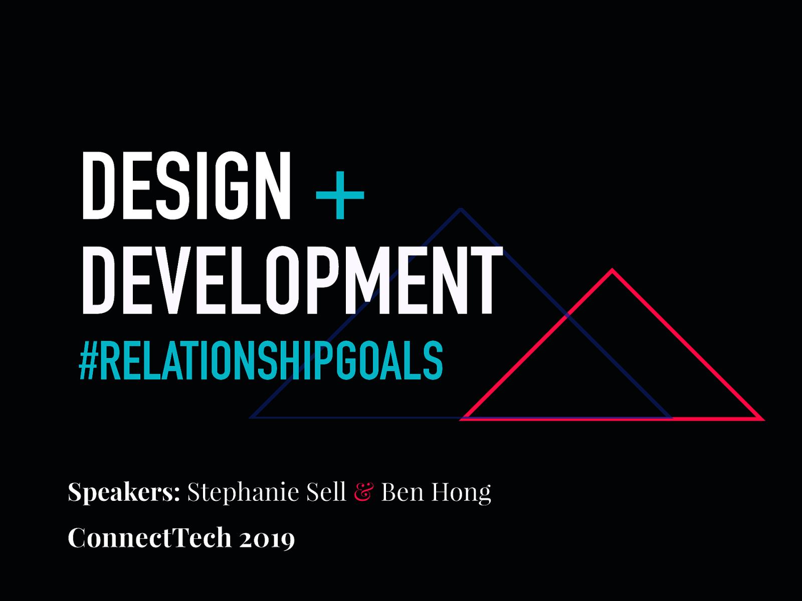 Designers & Developers: #RelationshipGoals