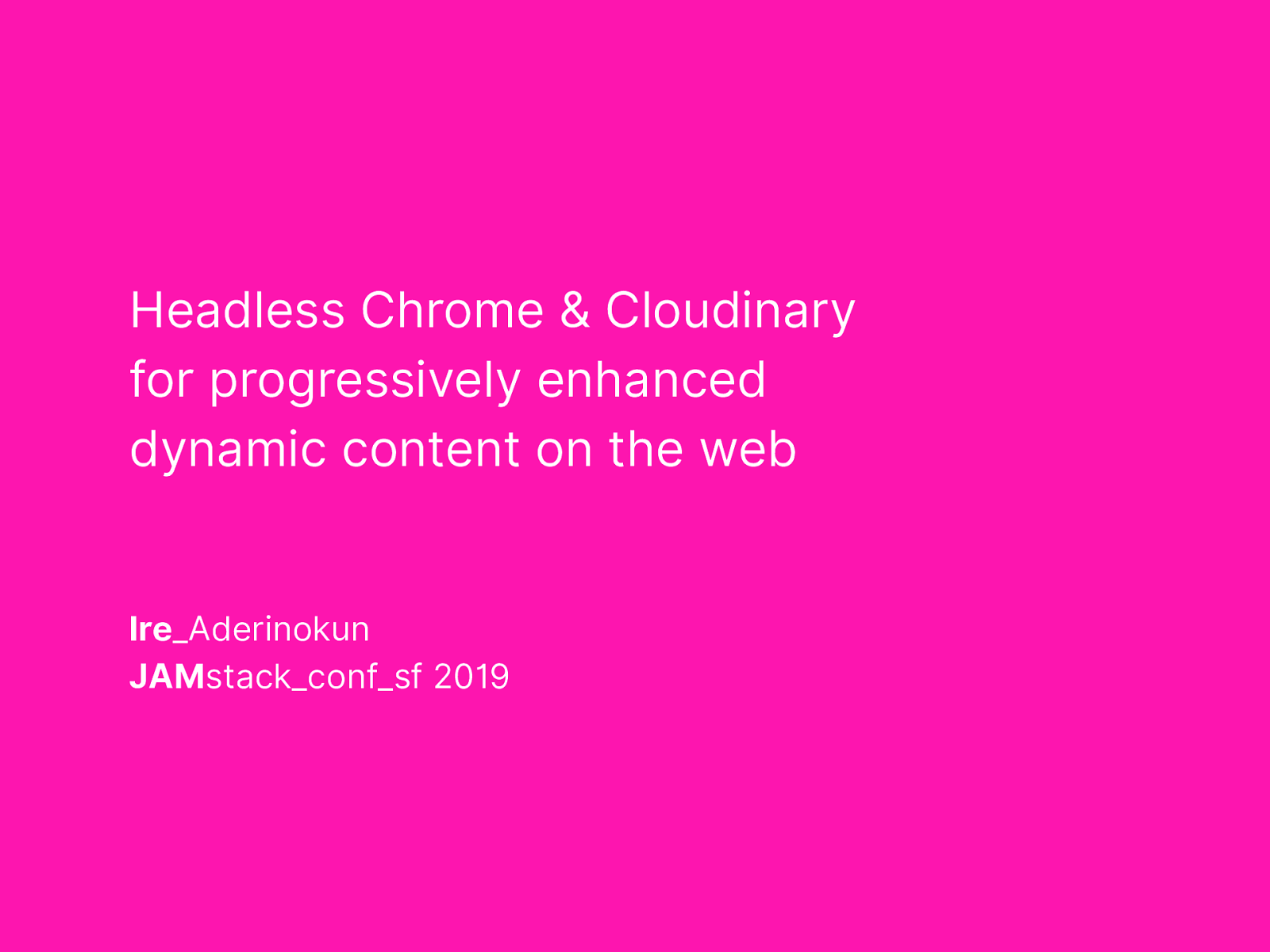 Headless Chrome & Cloudinary for progressively enhanced dynamic content